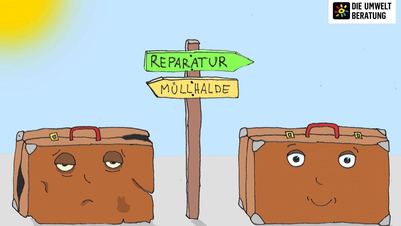 Koffer kaputt? Das Reparaturnetzwerk macht's wieder gut!